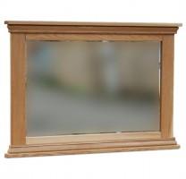New England Oak Framed Mirror