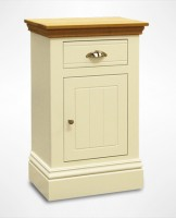 New England Small 1 Door 1 Drawer Bedside