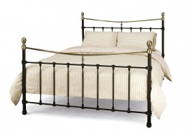 Edwardian II Black King Bed