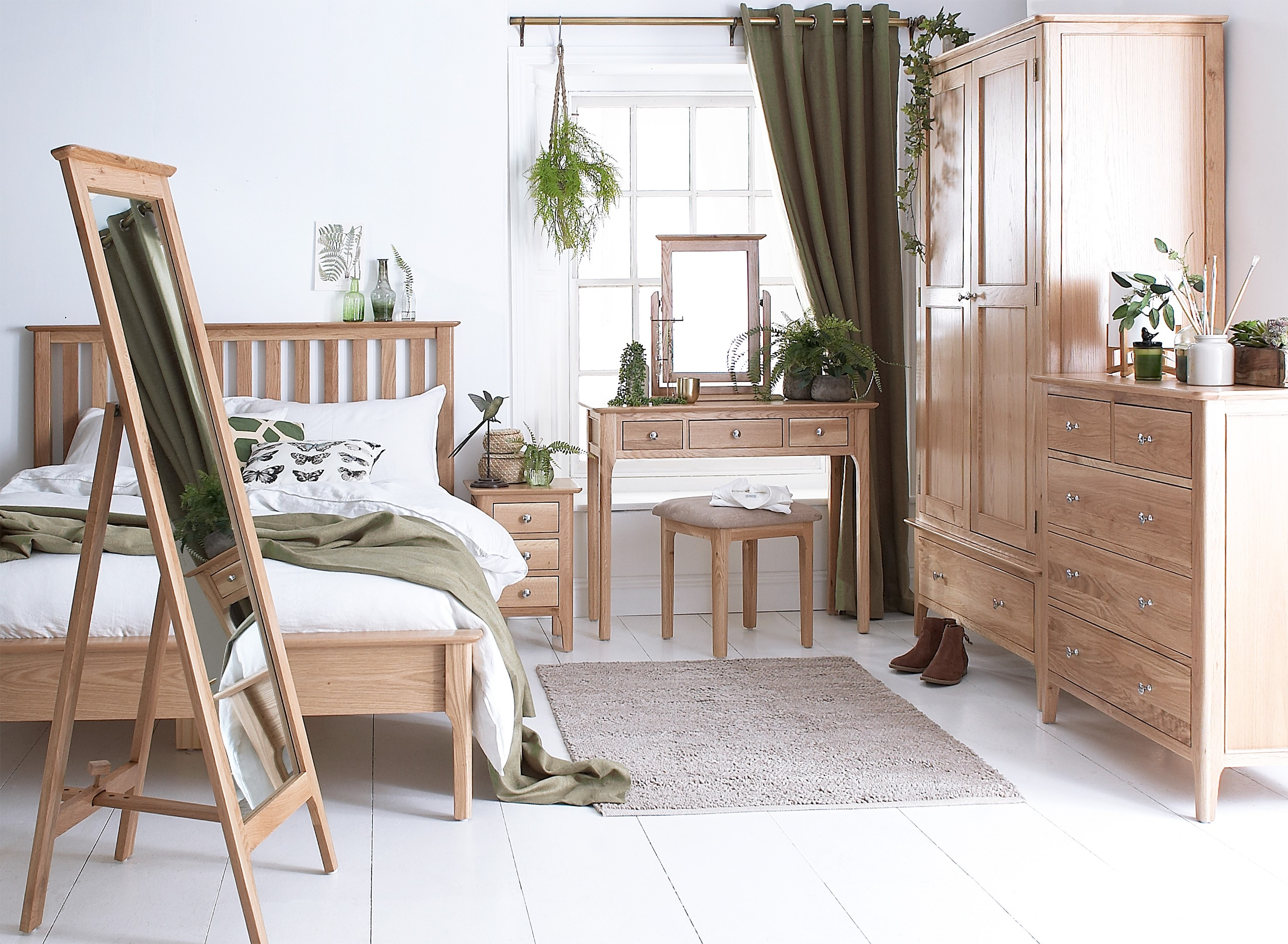 Natural Oak Bedroom Range Countryside Furnishers